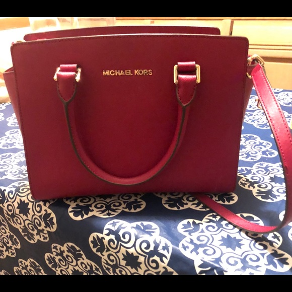 b972efa17130 Michael Kors Bags | Selma Saffiano Leather Medium Satchel | Poshmark